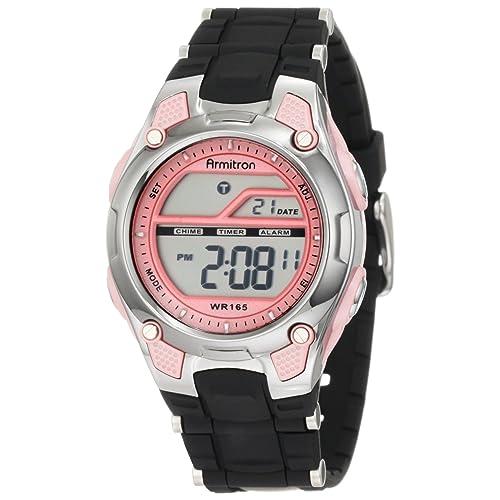 Armitron Sport Womens 45/6984 Digital Chronograph Resin Strap Watch