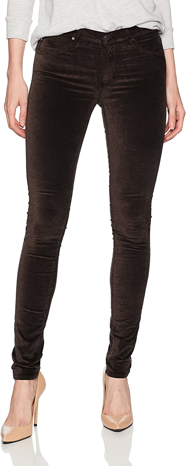 AG Adriano goldschmied Womens The Legging Skinny Opulent Stretch Velveteen Pants