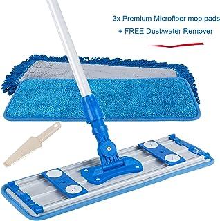 ALLZONE Professional Microfiber Mop for Hardwood Laminate Floor, Adjustable Aluminum Handle, 360 Degree Rotatable Mop Frame, 3 Premium Reusable Wet | Dry Mop Pads- 1 Year Warranty