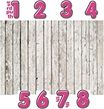 LYWYGG 6x4ft Photography Backdrop White Wood Backdrops for Photography Wood Floor Wall Background for Photographyers DIY Digital Sticker CP-22-0604