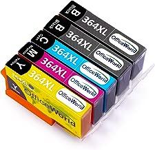 OfficeWorld 364XL Cartucce compatibili HP 364 XL per HP Photosmart 5520 5510 6510 6520 5511 5524 B010a HP Deskjet 3070A 3520 3522 3524 HP Officejet 4620 4622 4610 (2 Nero,1 Ciano,1 Magenta,1 Giallo)