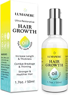 Lumanere Hair Growth Serum Hair Growth Oil with Caffeine and Biotin – Natural Hair Growth Accelerator for Stronger, Thicke...
