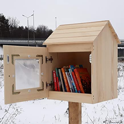 "BEST PRICE for outdoor neighborhood book box. Unfinished little library for book exchange. 22""x16""x16"". Fully assembled. Best Quality."