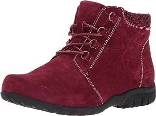 Propet Women's Delaney Ankle Boot Bootie, Dark Red, 6.5 XX-Wide