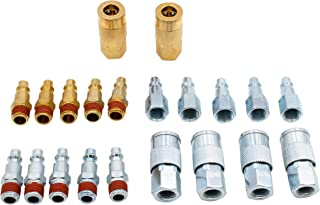 FIXSMITH Air Compressor Accessories Fittings- 21 Pieces Air Tools Fittings Set,I/M Type,1/4 Inch NPT Quick Connect Air Coupler Plug Kit.