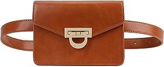 ECOSUSI Fanny Pack برای کیسه های کمربند کمر زنان برای کیسه های تلفن همراه مسافرتی ، قهوه ای