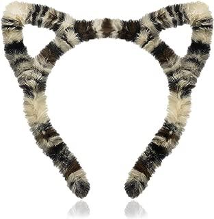 Fuzzy Faux Fur Leopard Print Animal Cat Ear Headband One Size