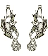 Alexis Bittar - Climbing Crystal Baguette Post Earrings