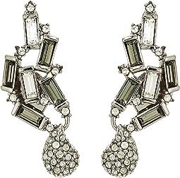 Climbing Crystal Baguette Post Earrings