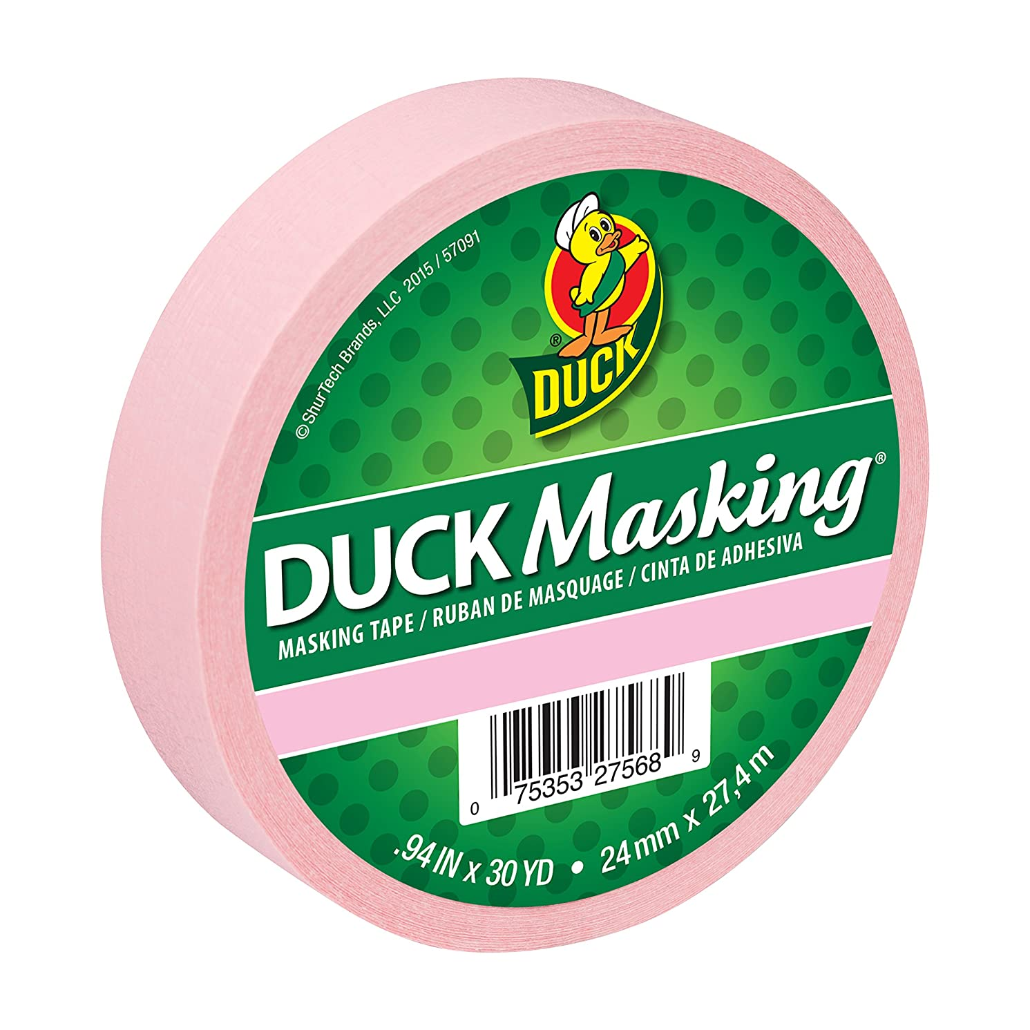 Duck Masking 240879 Pink Color Masking Tape.94-Inch by 30 Yards