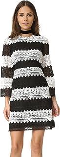 Jill Jill Stuart Women's 3/4-Sleeve Lace Two-Tone Dress