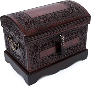 NOVICA JB0039 Colonial Treasure' Mohena Wood and Leather Jewelry Box