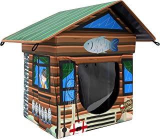 منزل للقطط من كيتي سيتي, مكعب القطط، مسكن مقاوم للماء, بني (CM-10081-CS01)