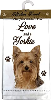 E&S Pets 700-46 Yorkie Kitchen Towels, Off-white