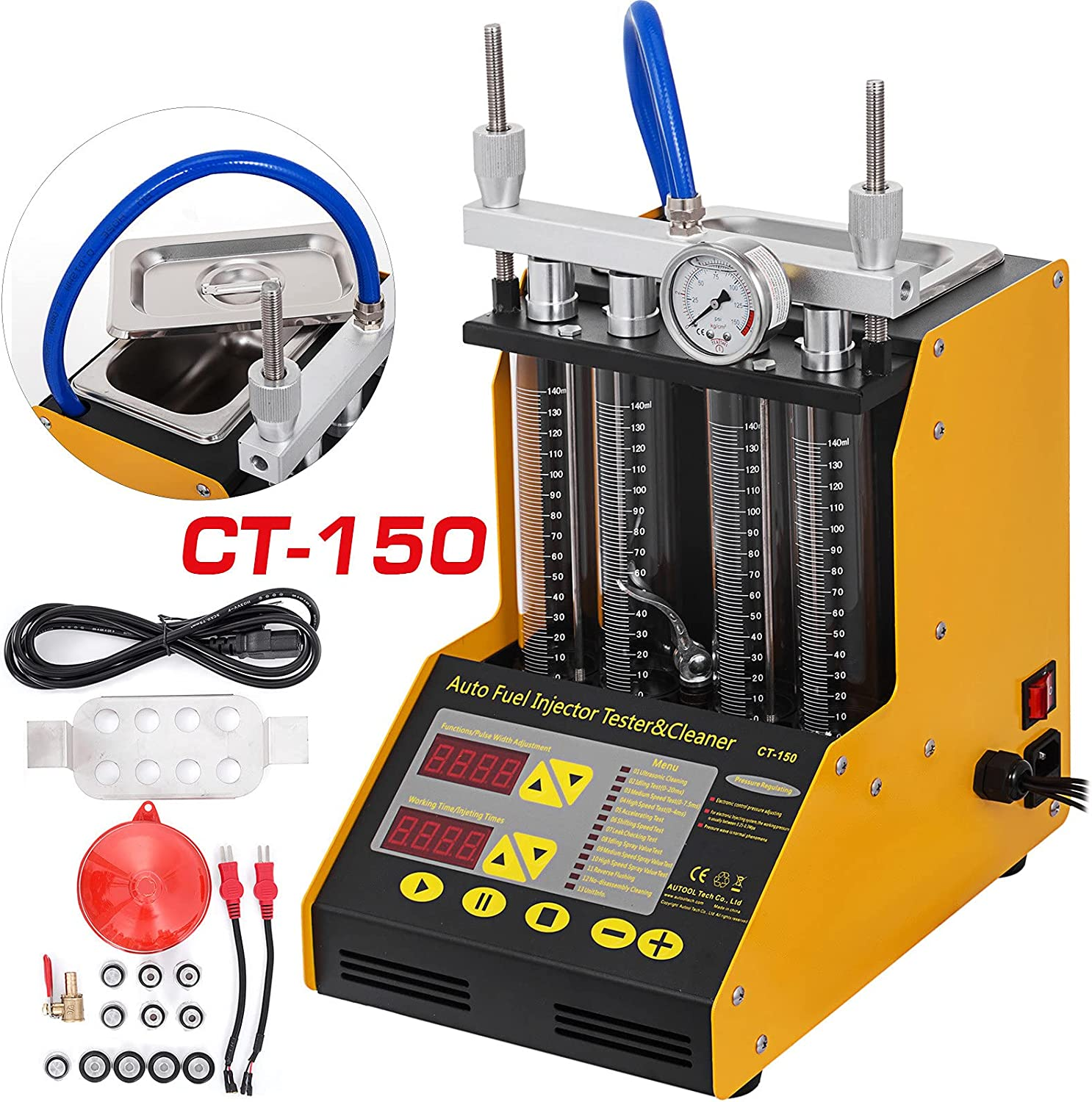 VEVOR CT-150 Fuel Ranking TOP1 Injector Cleaner Tester Cyli A surprise price is realized And Automotive 4