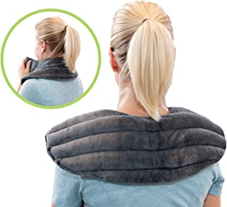 Microwavable Heating Pad for Neck and Shoulder Pain Relief   Herbal Aromatherapy   Hot/Cold Neck Wrap   Perfect for Headache, Migraine Relief, Anxiety and Stress Relief