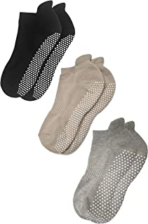 Anti Slip Non Skid Barre Yoga Pilates Hospital Socks with grips for Adults Men Women