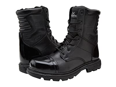 Thorogood 8 Inch Side Zipper Work Boot (Black) Men