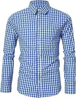 Men's German Bavarian Oktoberfest Dress Shirt Button Down Checkered Shirt