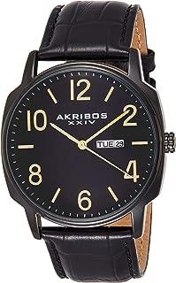 Akribos XXIV Men's AK885 Quartz Multifunction Strap and Bracelet Watch Set