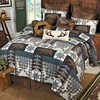 Black Forest Décor Bear Creek Lodge Quilt Set - Queen