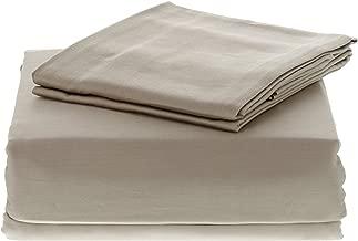 Maspar Lux Satin Cotton 1 King Size Bedsheet with 2 Pillow Covers - Linen