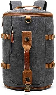 CoolBELL Sport Backpack Convertible Bag Shoulder Bag Briefcase 42L Travel Knapsack Light-Weight Water-Resistant Backpack Sport Duffel Fits 17.3 Inch Laptop for Men/Women (Canvas Dark Grey)