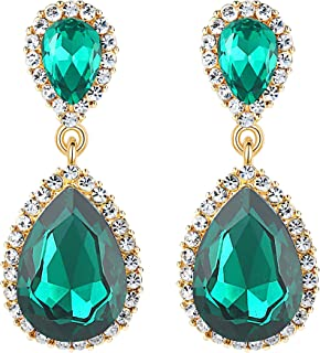 emerald earrings teardrop