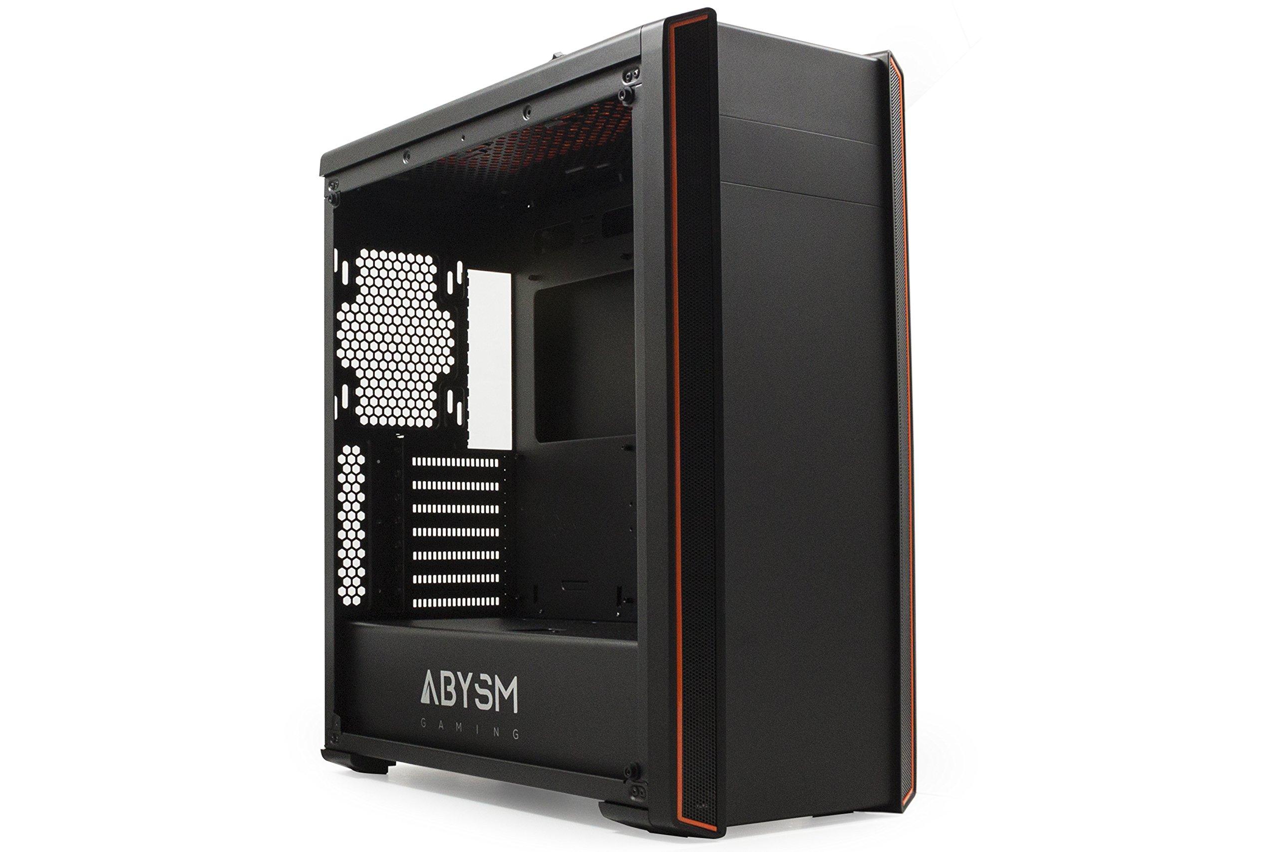 Abysm Dorian - Caja de Ordenador Gaming ATX, Color Negro y Naranja ...