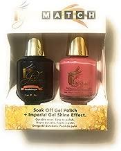 IGEL Soak Off Gel Polish Imperial Gel Shine Effect - iGel iLaquer - No-Wipe Top Coat 0.5 oz Base Coat 0.5 oz Color Guadeloupe a rich coral shade