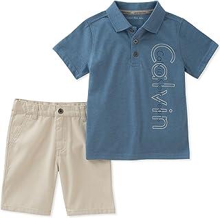 Calvin Klein Boys' 2 Pieces Polo Shorts Set