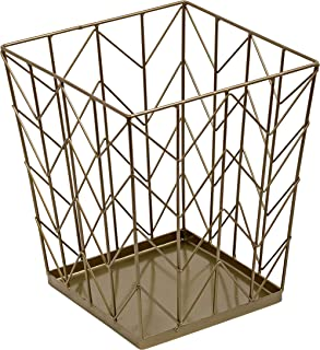 Honey-Can-Do TRS-07871 Trash Can, Bronze