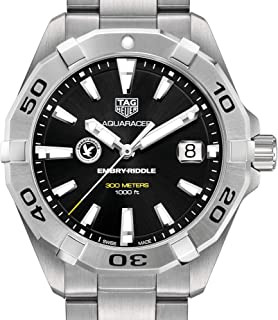Embry-Riddle Men's TAG Heuer Steel Aquaracer with Black Dial by M.LaHart