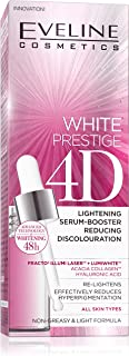 EVELINE WHITE PRESTIGE 4D LIGHTENING SERUM-BOOSTER REDUCING DISCOLOURATION 18ML