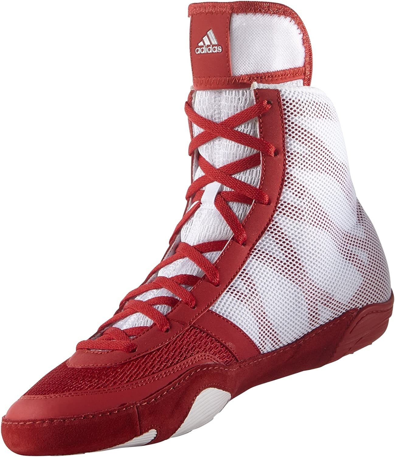 Adidas Pretereo III Wrestling shoes - Red Silver White - 8.5