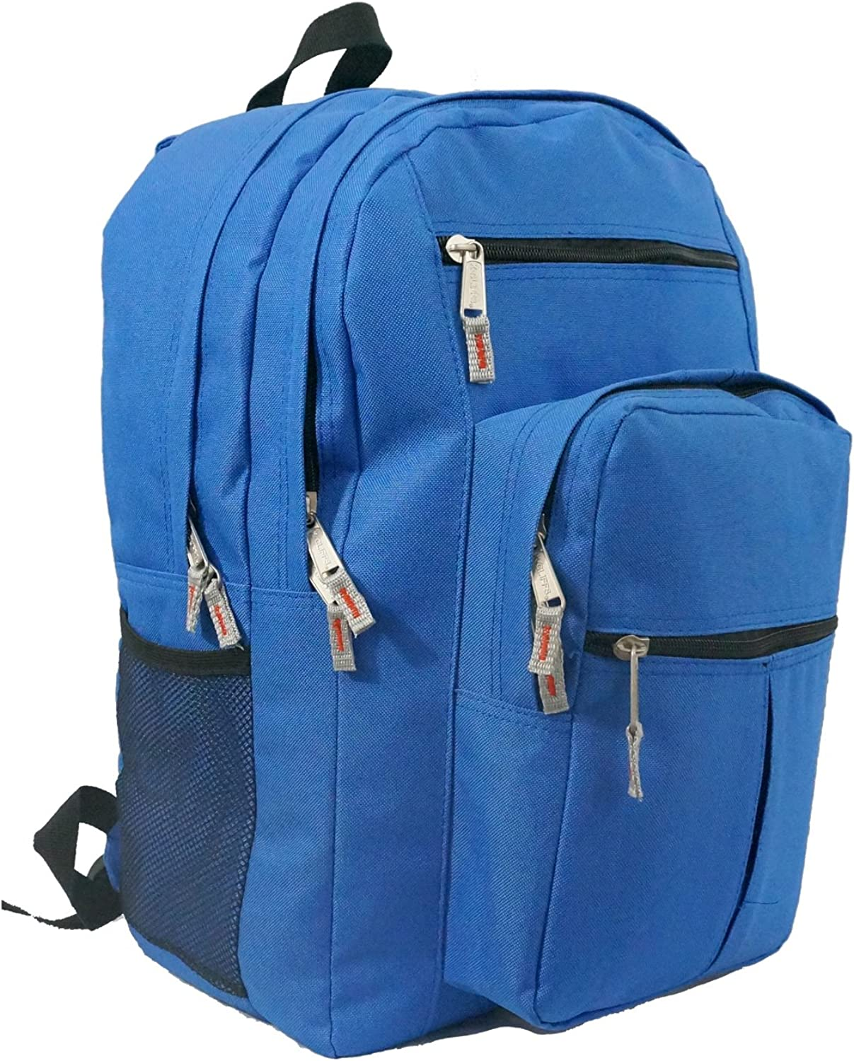 KCliffs Multi pockets Backpack School Bag Day Pack Book bag.18 Inches.Royal