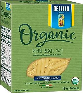 De Cecco Organic Pasta, Penne Rigate No.41, 12 Ounce (Pack of 12)