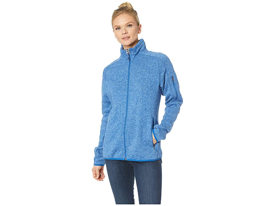 White Sierra Sweater Fleece Full Zip Jacket (Cobalt) Women