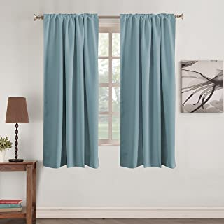 Window Treatment Blackout Curtain Panels Rod Pocket and Back Tab Curtains Window Panels for Living Room Insulated Thermal Blackout Draperies for Bedroom, 52