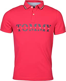 Tommy Hilfiger Men's Custom Fit Mesh Cotton Logo Polo Shirt