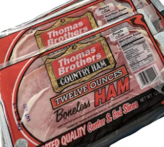 Thomas Brothers Country Ham, 2 Packs at 12 Ounces per Pack