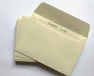 5x Rössler Briefhülle DL chamois marmora Briefumschlag Umschlag Briefkuvert