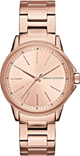 Armani Exchange Women's Lady Banks Three Hand Rose Gold-Tone Stainless Steel Watch AX4347