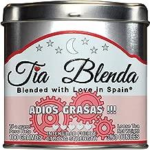 TIA BLENDA - ADIÓS GRASAS (100 g) - Té rojo Pu-Erh de alta calidad con Jengibre. Té de hojas sueltas a granel. Leaf Tea. Té en hebras. 40 - 50 tazas. Presentación premium en lata. Caddy Tea.