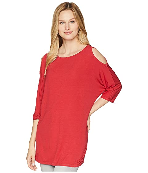 dfc2ebeac0ac9 Michael Stars Lycra Jersey 3 4 Sleeve Cold Shoulder Tunic at 6pm