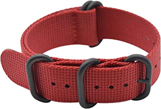 Watch Band with Ballistic Nylon Material Strap and High-End Black Buckle (Matte Finish Buckle)
