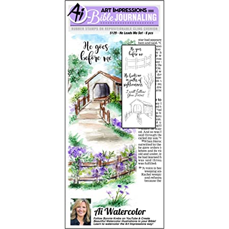 Art Impressions Bible Journaling Watercolor Rubber Stamps-Gates of Righteousness