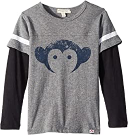 Extra Soft Twofer Long Sleeve Football Tee with Appaman Logo (Infnat/Toddler/Little Kids/Big Kids)
