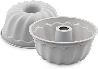 s Molde Cake Mold, Alrededor, Gris, Aluminio, 26 cm, 1 Pieza Aeternum Y0B9STC026