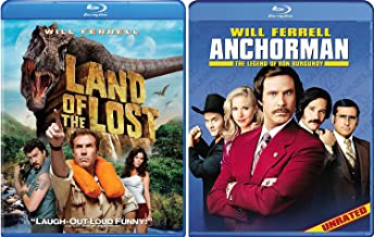 Anchorman: The Legend of Ron Burgundy Blu Ray + Land of the Lost Comedy Bundle Double Feature Will Farrel Set